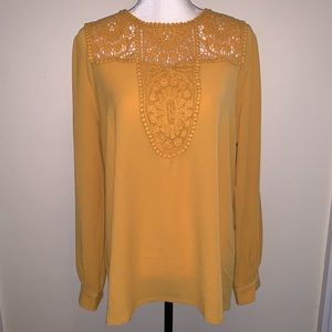 Halogen Lace And Crepe Blouse